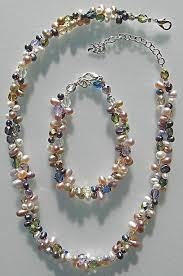 freshwater pearls necklace images Freshwater pearl two strand necklace hawaiian freshwater pearl jpg