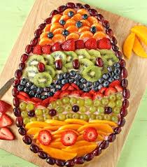fruit decorations easter inspiration egg shaped fruit pie or plater food