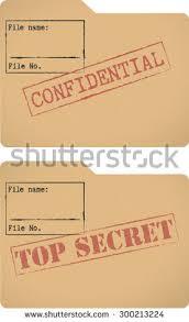 top secret report template confidential top secret document file templates stock vector