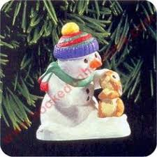 july 11 snow buddies snowman and beaver ornament hallmark