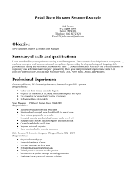 Example Retail Resume by Resume Store 20 Grocery Store Manager Resume Uxhandy Com