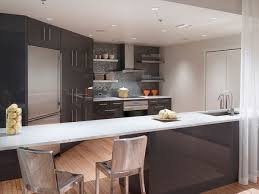 interior open plan kitchen design with magnificent cabinet and