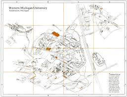 Michigan State Campus Map by Campus Maps Facilities Management Western Michigan University