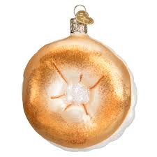 bagel world ornament