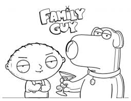 family guy printable coloring pages for kids and for adults