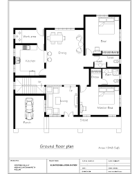 cottage floor plans 1000 sq ft 1000 sqft 2 bedroom house plans india