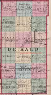 Map Illinois by Dekalb County Illinois 1870 Map