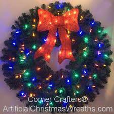 lighted christmas wreath 36 inch color changing l e d lighted christmas wreath