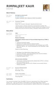 Business Sample Resume by Business Associate Resume Samples Visualcv Resume Samples Database