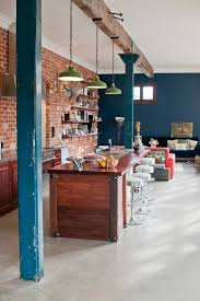 Pendant Lights Perth Perth Brick Wall Kitchen Eclectic With Warehouse Style Green