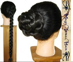 Hair Extensions For Updos by Plaited Braid Custom Color Hair Bun Wig Updo 20 U0027 U0027 50cm