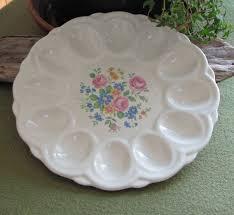 vintage deviled egg plate vintage deviled egg plate e r american artware serving plate
