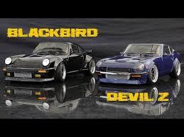 devil z vs blackbird datsun s30z devil z vs porsche 930 blackbird versus series