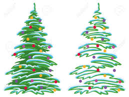 christmas holiday tree with ornaments balls and stars vector