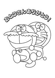 doraemon with mustache coloring page boys pages of
