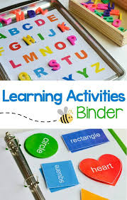 learning activities binder u0026 free printable preschool learning