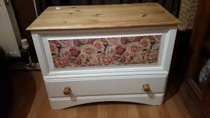 hand made upcycled shabby chic white pine blanket box trunk