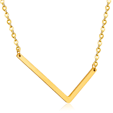 pendant l with chain trendy necklace for women with l shaped pendant gold letter necklace