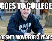 College Senior Meme - guy in college freshman meme now stars in a new college senior