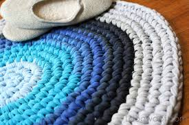 How To Rag Rug Crochet Rug From Repurposed T Shirts One Dog Woof