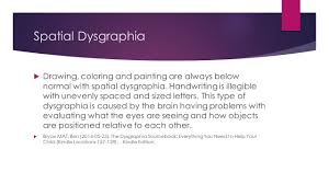 dysgraphia a specific learning disability involving written