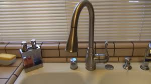 leaking moen kitchen faucet how to fix leaking moen high arc kitchen faucet diy kitchen designs
