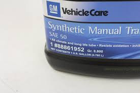 amazon com genuine gm fluid 88861952 sae 50 synthetic manual