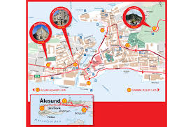 Norwegian Air Route Map by Hop On Hop Off Bus Tour Alesund City Sightseeing