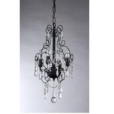 Antique Black Chandelier Warehouse Of Tiffany Adelaida 3 Light Chrome Crystal By Home