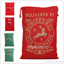 monogrammable items christmas large canvas monogrammable santa claus drawstring bag
