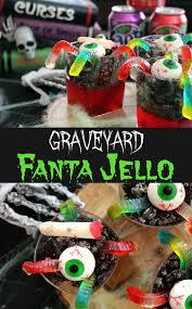 spooky fanta graveyard jello