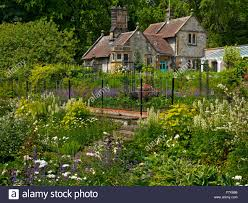 the kitchen garden at thornbridge hall a country house near great