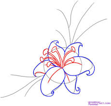 a drawing of a flower how to draw a flower tattoo step step