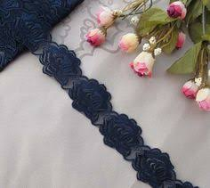 navy blue lace ribbon navy blue lace trim ribbon 3 in wide 5 yds 5 00 blue floral