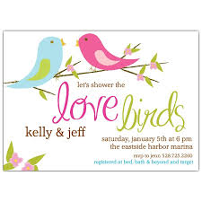 couples wedding shower invitation wording birds bridal shower invitations paperstyle