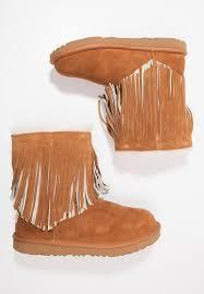 ugg sale zalando lounge ugg ii fringe boots chestnut zalando co uk