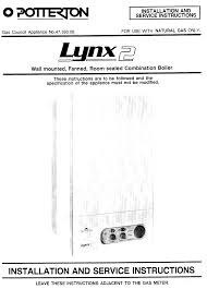 lynx 2 installation and service instructions