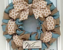 winter burlap wreath etsy
