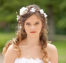 flower headpiece bridal hair accessories wedding flower headpiece white flower