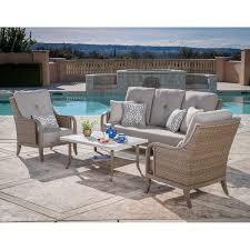 Wicker Deep Seating Patio Furniture by Rio Vista 4 Piece Deep Seating Set