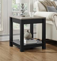 amazon com altra furniture carver end table black sonoma oak