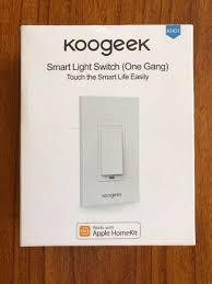 smart light switch homekit koogeek wi fi smart light switch works with apple homekit remote