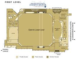Loading Dock Floor Plan by Morgantown Event Center Waterfront Place Hotel Events Floor Plans