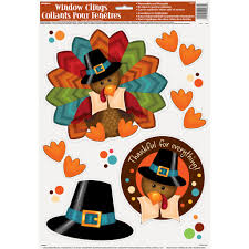 turkey thanksgiving static window clings thanksgiving decorations