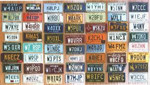 How To Get A Vanity Number Complete First Issue Set Of Ham License Plates From The Mike
