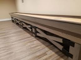 How Long Is A Shuffleboard Table by Champion Rustic Shuffleboard Table