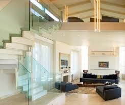 glass mezzanine staircase contemporary with circular stairs rustic