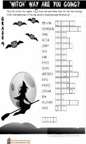 halloween crossword puzzle 4 halloween crossword puzzles