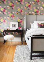 modern floral wallpaper bedroom teal and grey wallpaper gray textured wallpaper
