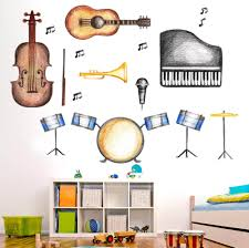 classroom wall decal classroom decoration musical instruments